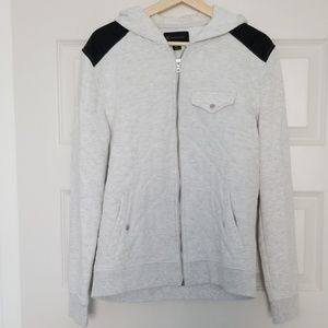 INC International Concepts Sweaters - Heather White Hoodie